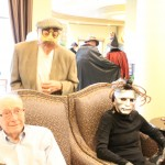 Residents wearing full masks mean everyone asking who is that? for an hour... It was really funny!