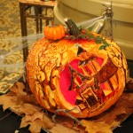 This was the winning pumpkin! Fun Fact: This was his first pumpkin he ever carved... (Seriously!)