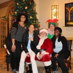 The Staff welcomed Santa during the Holiday Party.
