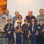 The Scouts helped us celebrate our Veterans.