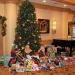 The Living Room here at Pacific Regent. So many toys and gifts provided by our residents!
