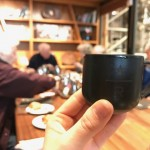 A wee little tasting cup for the flights of coffee.