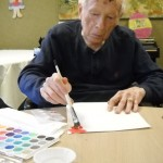 Don said he has never painted anything in his life, until our Community Life staff encouraged him to come and join our Color Art Class. He enjoyed it so much and he still continues to come every Monday.