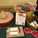Our raffle table with fun hats that our residents adorned!