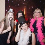 Who says the staff can't enjoy the party too? From left to right, Sarah - Front Desk Reception, Nicole - Lead Barista, Erin - Community Life Director, Debbie - Wellness Nurse.