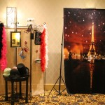 Our deluxe photo booth wouldn't be complete without an Eiffel Tower.