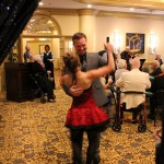 Our Executive Director, Bob, got swept into the dancing by Elle. He had no idea what was coming for him!