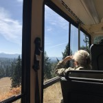 One of our residents gazing out over the gorgeous mountains on this immensely clear day! We were trying to soak in all the sunshine we could before Autumn officially hits!