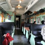 This was the inside of our train car. There were very few people aboard our car, so we got to stretch our legs and relax!