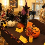 As residents joined the party, they passed through a tunnel of carved pumpkins!