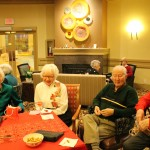 Lovely residents enjoying the music and the food.