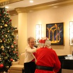 Santa and Arlene dance the night away!