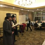 Holiday Harmony Carolers in the Dining Room