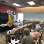 Diane, our Admissions Coordinator for The Springs Skilled Nursing on the second and third floor, giving a talk about the ins and outs of our SNF department. Very informative!