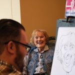 Margaret thought her caricature was hilarious - we agree!