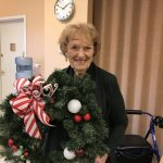 Margaret loved her cutesy wreath.
