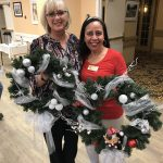 Debbie, our Wellness Nurse, Georgina, a housekeeper, and Erin, the Community Life Director used the last three wreaths as gifts for our fellow associates! Spreading the holiday cheer!