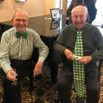 Stuart (L) and Leo (R) were adorably decked out for the party! Check out their ties!