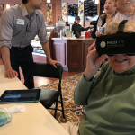 Martha tried out a Virtual Reality headset for the first time! She, among everyone else, loved it.