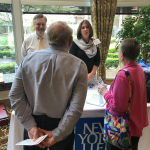 NY Life had a booth and gave a presentation on planning for legacies. Syd and Carolyn, two of our newest residents, got some quick financial planning advice from the experts.