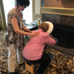 Freeman, our in-house massage therapist provided 10-minute chair massages. It was relaxing even just watching the massages.