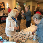 Marla and Arlene provide information and delicious antioxidant-packed snacks for fellow residents! They are both members of the resident-run Health Committee who helped put on the fair.